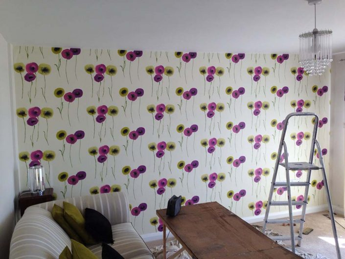 Living room Wall Papering Taunton