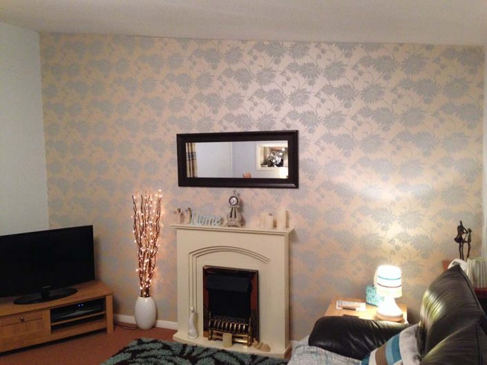 Front room feature wall