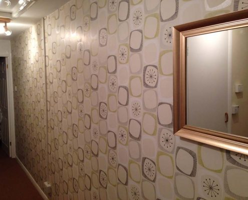 Hallway Wall Papering