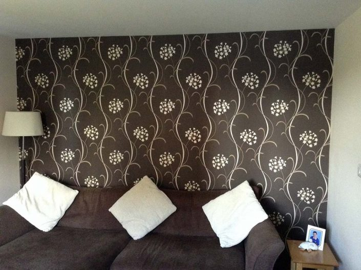 Feature wall in Bridgwater